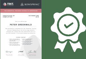 Bowspring TINT Yoga Academy Certificate