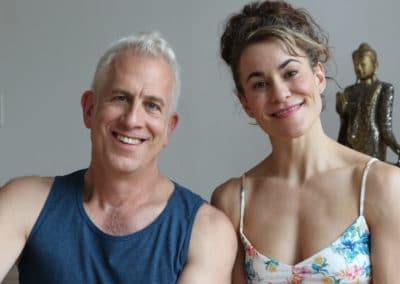 portrait of two yoga teachers