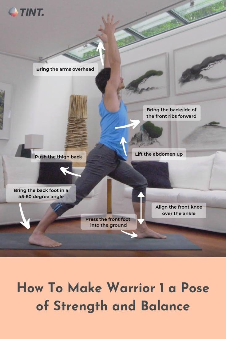 Make Warrior 50 a Yoga Position of Strength and Balance   TINT Yoga