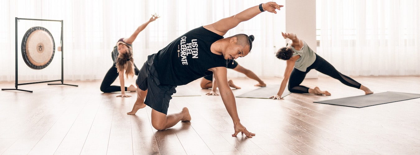 Young Ho Kim doing a yoga backbend