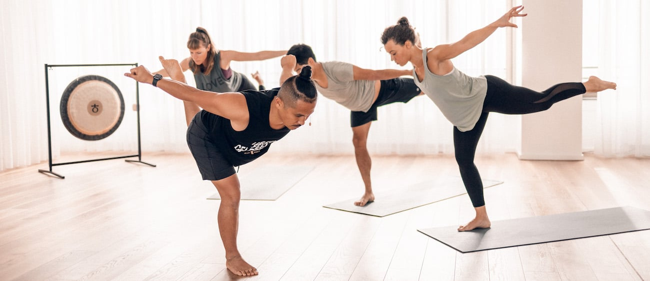Group combining yoga and music